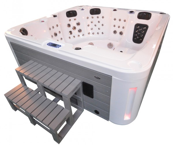 Whirlpool Outdoor Aussenwhirlpool Hot Tub Spa Pool AR 561-200 weiss-hellgrau