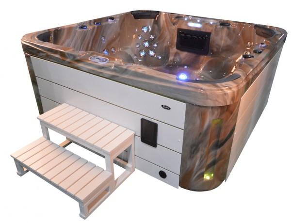 Whirlpool Outdoor Aussenwhirlpool Hot Tub Spa Pool GP7 MS-weiss