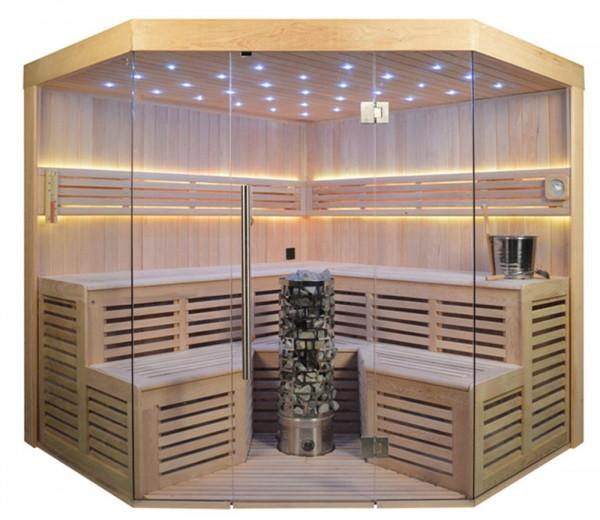 Ausstellungsstück Sauna TS 4015-LS Steintowerofen, 220x220cm