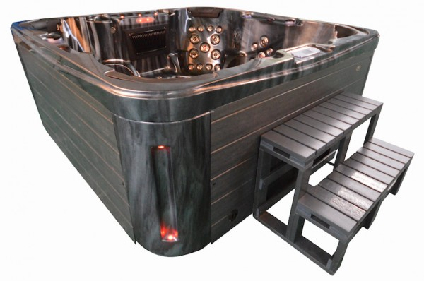 Whirlpool Outdoor Aussenwhirlpool Hot Tub Spa Pool GP7 schwarz-dunkelgrau