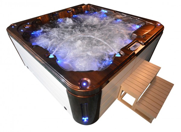 Whirlpool Outdoor Außenwhirlpool Hot Tub Spa Pool AR 561-200 coffee-weiß