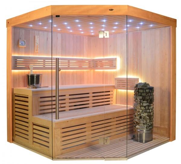 Sauna TS 4013-LS Steintowerofen, 180x180cm