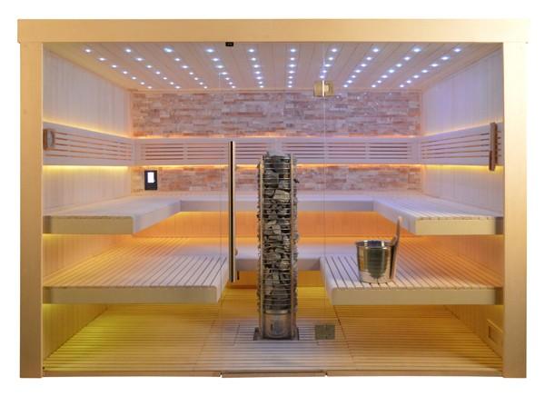 Sauna TS 4066 Bernstein-farbener Marmor, 300x250cm