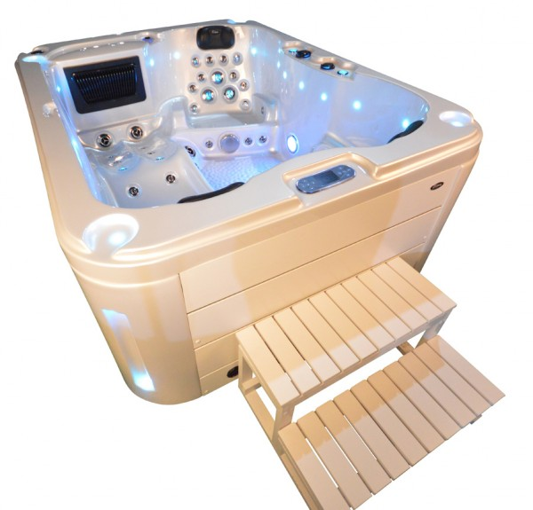 Whirlpool Outdoor Außenwhirlpool Hot Tub Spa Pool SP 201-100 perlweiß-weiß