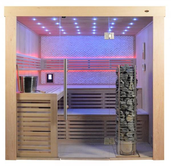 Sauna TS 4022 Steintowerofen, weisser Marmor, 220x180cm
