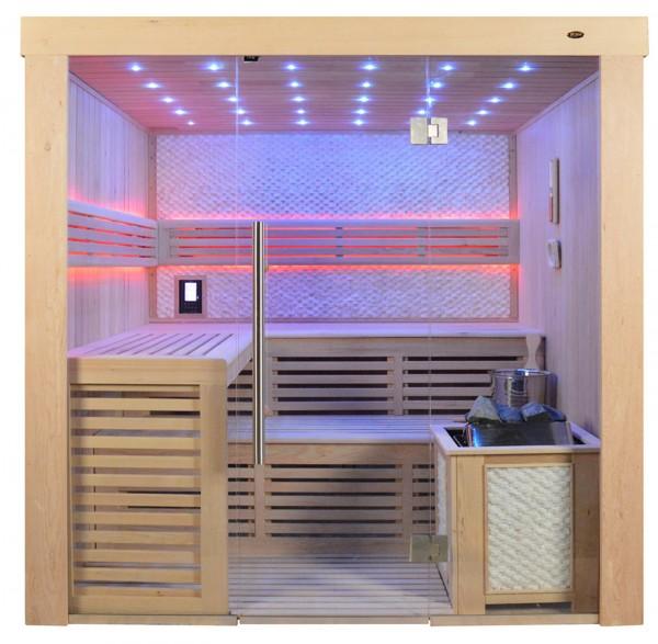 Sauna TS 4022 Bio-Kombiofen, weisser Marmor, 220x180cm