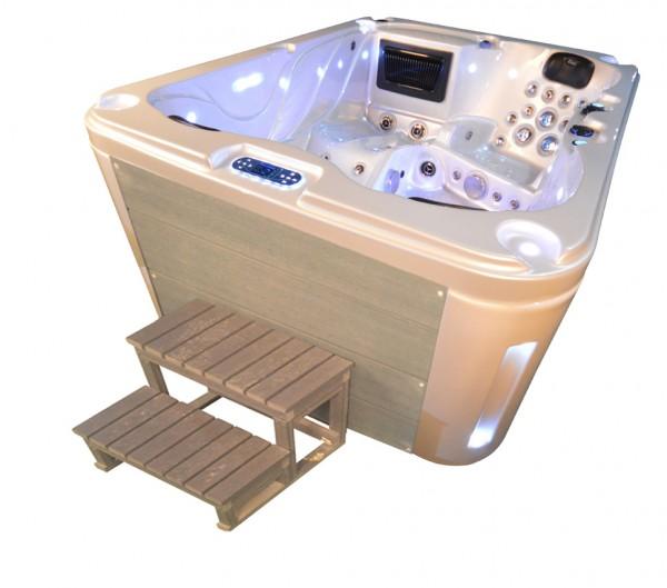 Whirlpool Outdoor Außenwhirlpool Hot Tub Spa Pool SP 201-100 perlweiß-hellgrau