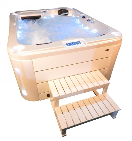 Whirlpool Outdoor Außenwhirlpool Hot Tub Spa Pool SP 201-100 perlweiß-weiß