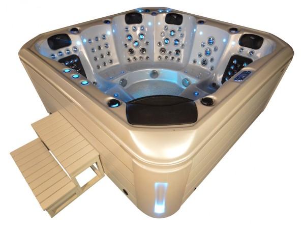 Whirlpool Outdoor Außenwhirlpool Hot Tub Spa Pool AR 542-230 perlweiß-weiß