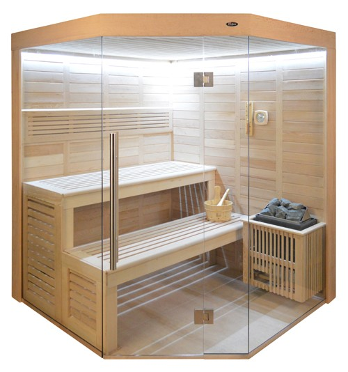 Sauna HE 4013 Eco-Ofen, 180x180cm