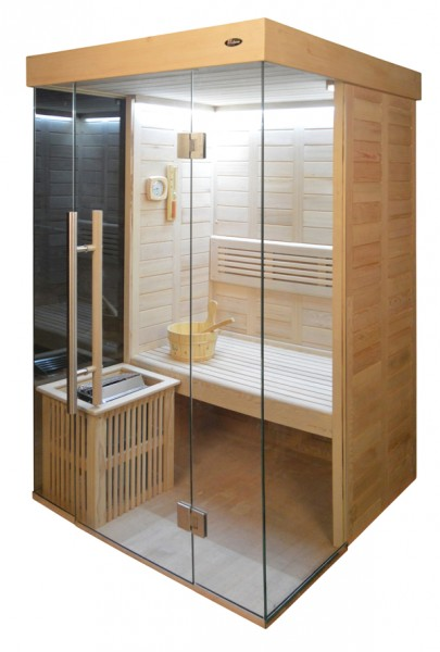 Sauna HE 4020-3 Eco-Ofen, 120x120cm