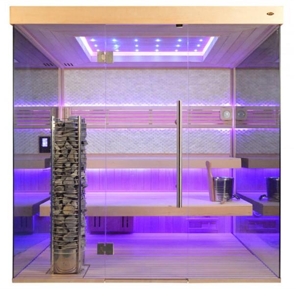 Sauna TS 4057 Steintowerofen, weißer Marmor, 200x180cm
