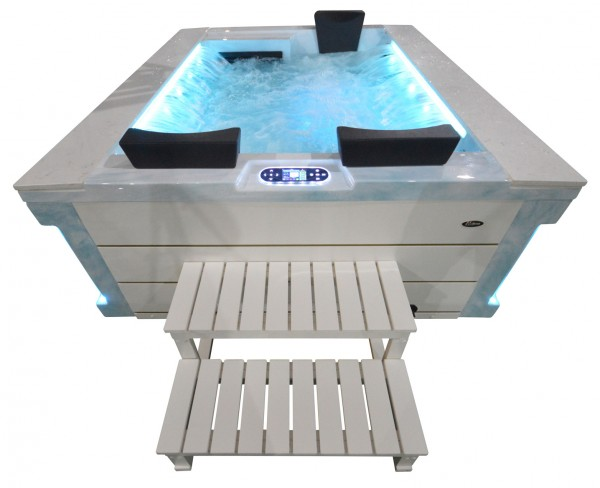 Whirlpool Outdoor Aussenwhirlpool Hot Tub Spa Pool FD 121-100 Hellblau-Weiss