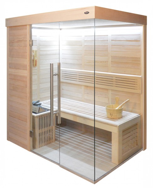 Sauna HE 4018-1 Eco-Ofen, 180x120cm B/T