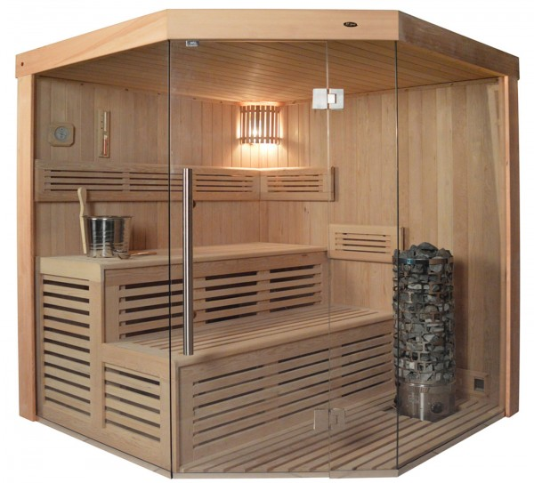 Sauna TS 4013 Steintowerofen, 180x180cm