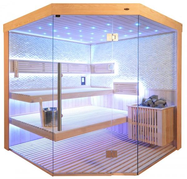 Sauna TS 4063 Bio-Kombiofen, weisser Marmor, 180x180cm