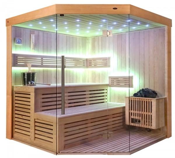 Sauna TS 4013-LS Eco-Ofen, 180x180cm
