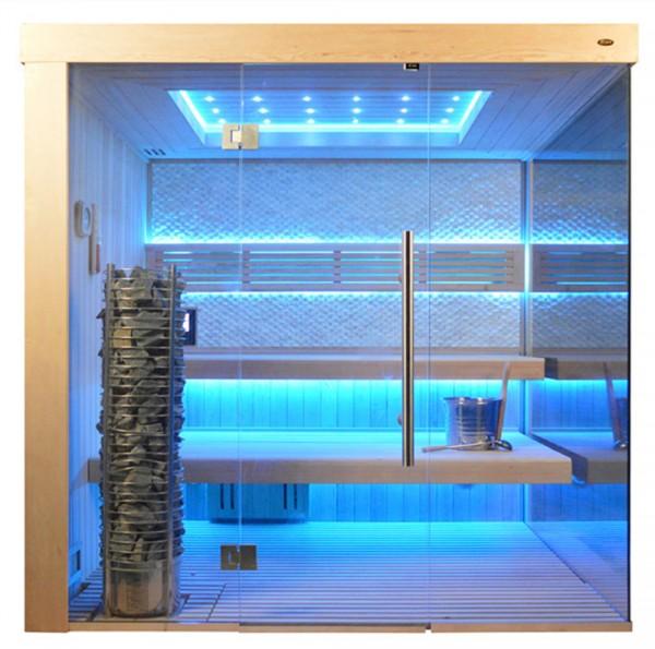 Sauna TS 4056 Steintowerofen, weisser Marmor, 200x180cm