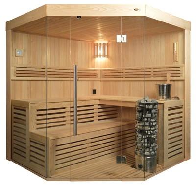 Sauna TS 4014 Steintowerofen, 200x200cm