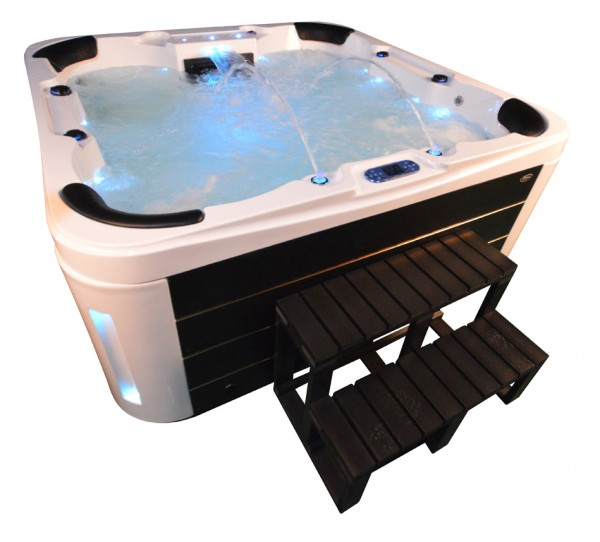 Whirlpool Outdoor Aussenwhirlpool Hot Tub Spa Pool GP7 Weiss-Schwarz