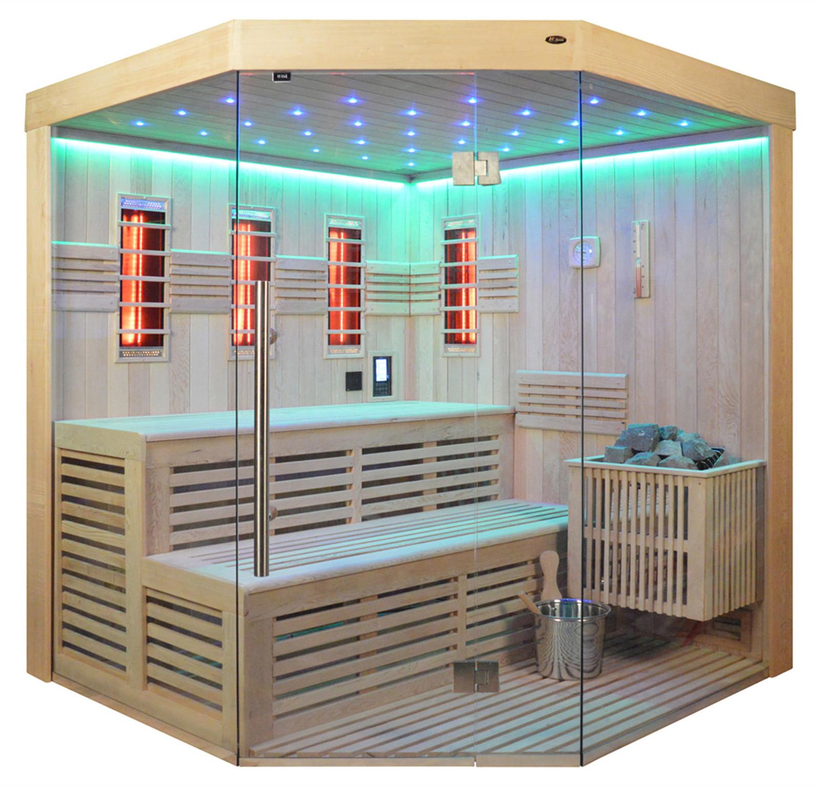 kombisauna ks 4023 bio kombiofen 180x180cm heico wellness design. Black Bedroom Furniture Sets. Home Design Ideas