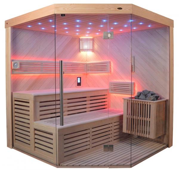 Sauna TS 4023A-DC Bio-Kombiofen, 180x180cm