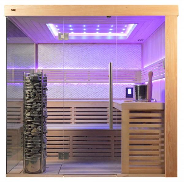 Sauna TS 4061 Steintowerofen, weißer Marmor, 200x180cm