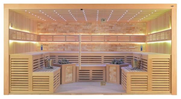 Sauna TS 4026-2 Bio, bernsteinfarbener Marmor, 300x 250x 210cm