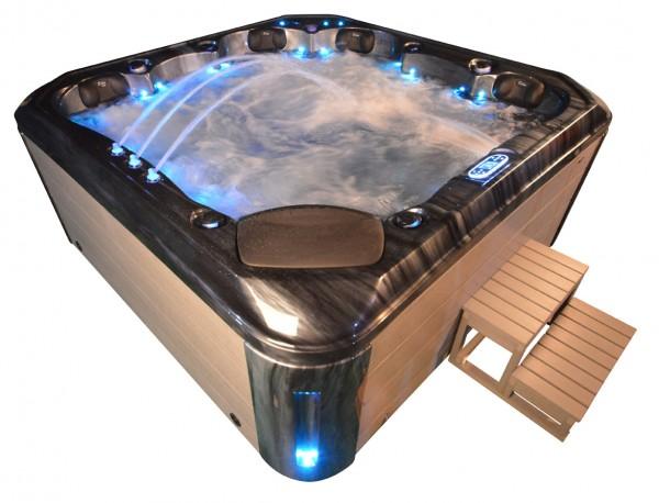 Whirlpool Outdoor Außenwhirlpool Hot Tub Spa Pool AR 542-230 schwarz-hellgrau