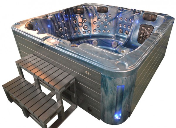 whirlpool outdoor aussenwhirlpool hot tub spa pool ar 561 200 blau dunkelgrau heico wellness. Black Bedroom Furniture Sets. Home Design Ideas