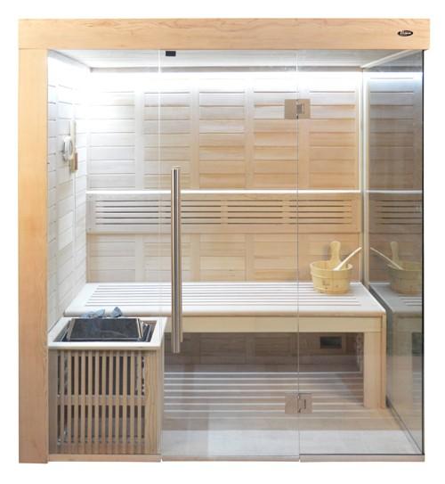Sauna HE 4018-2 Eco-Ofen, 180x120cm B/T