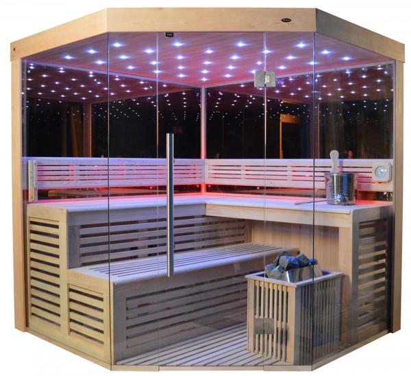 Sauna TS 4014-LM Eco-Ofen, 200x200cm