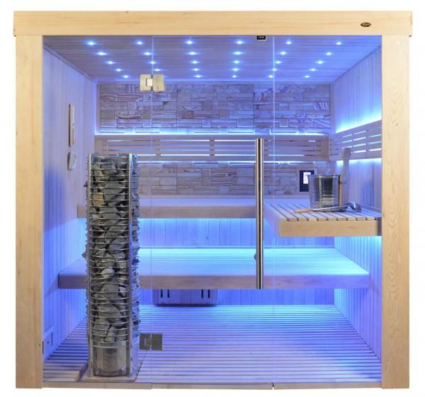 Sauna TS 4062 Steintowerofen, Farbsandgestein, 200x180cm