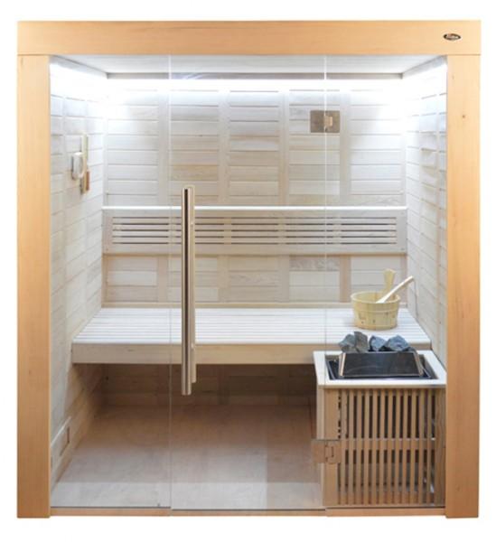Sauna HE 4018 Eco-Ofen, 180x120cm B/T
