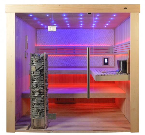 Sauna TS 4062 Steintowerofen, weisser Marmor, 200x180cm