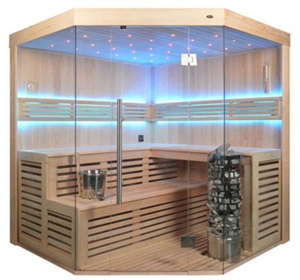 Sauna TS 4013-A-LS Steintowerofen, 180x180cm