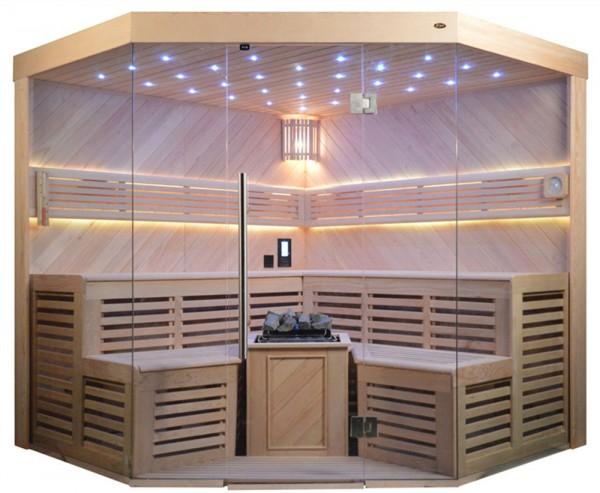 Sauna TS 4025A-DC Bio-Kombiofen, 220x220cm