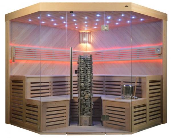 Sauna TS 4025A-DC Steintowerofen, 220x220cm